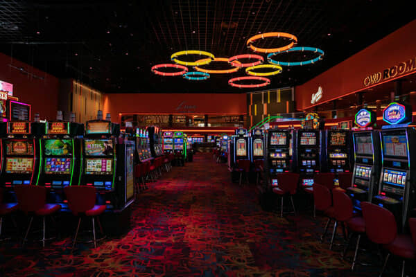 Casino Card Room gaming floor showing slot machines at the Casino at Dania Beach
