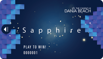 The Casino at Dania Beach Sapphire players card
